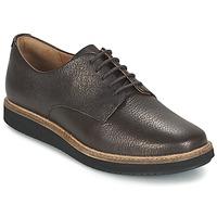 鞋子 女士 德比 Clarks 其乐 GLICK DARBY 棕色