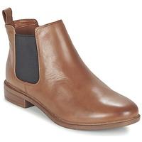 鞋子 女士 短筒靴 Clarks 其乐 TAYLOR SHINE 棕色