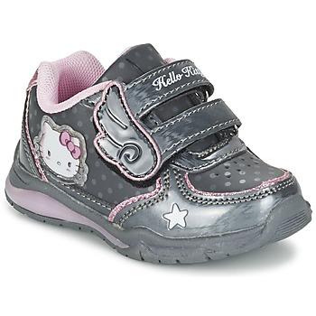 鞋子 女孩 球鞋基本款 Hello Kitty 凯蒂猫 FANELY LIGHT 灰色