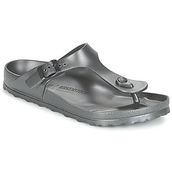 鞋子 女士 人字拖 Birkenstock 勃肯 GIZEH EVA -煤灰色 / Métallique