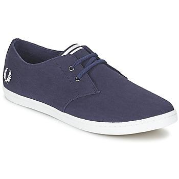 鞋子 男士 球鞋基本款 Fred Perry BYRON LOW TWILL 海蓝色