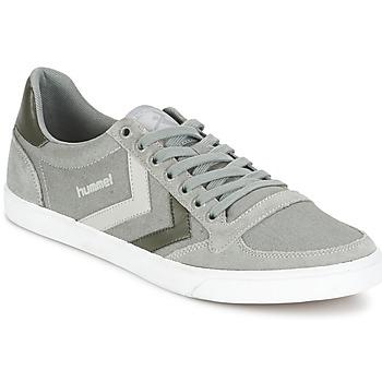 鞋子 球鞋基本款 Hummel TEN STAR DUO CANVAS LOW 灰色
