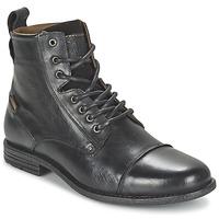 鞋子 男士 短筒靴 Levi's 李维斯 EMERSON LACE UP 黑色