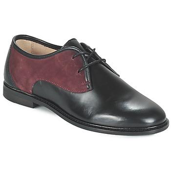 鞋子 女士 德比 M. Moustache EUGENIE 黑色 / 波尔多红
