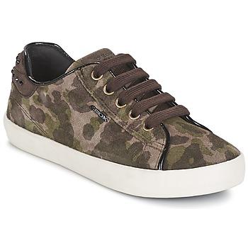 鞋子 女孩 球鞋基本款 Geox 健乐士 KIWI GIRL 绿色