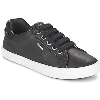 鞋子 女孩 球鞋基本款 Geox 健乐士 KIWI GIRL 黑色