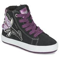 鞋子 女孩 高帮鞋 Geox 健乐士 WITTY 黑色