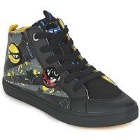 鞋子 男孩 高帮鞋 Geox 健乐士 KIWI BOY 黑色 / 黄色