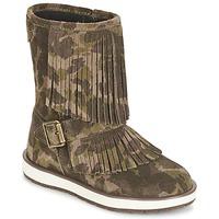 鞋子 女孩 短筒靴 Geox 健乐士 NOHA 绿色