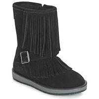 鞋子 女孩 短筒靴 Geox 健乐士 NOHA 黑色