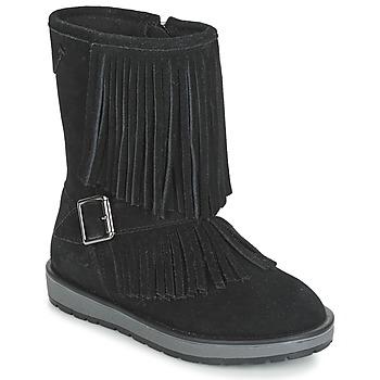 鞋子 女孩 短筒靴 Geox 健樂士 NOHA 黑色