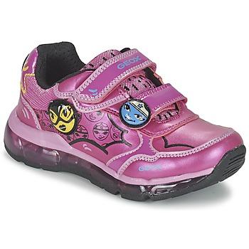 鞋子 女孩 球鞋基本款 Geox 健乐士 ANDROID GIRL 玫瑰色