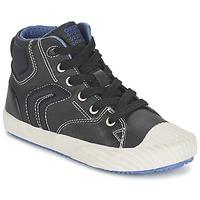 鞋子 男孩 高帮鞋 Geox 健乐士 ALONISSO BOY 黑色 / 蓝色