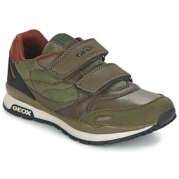 鞋子 男孩 球鞋基本款 Geox 健乐士 PAVEL 绿色 / 橙色