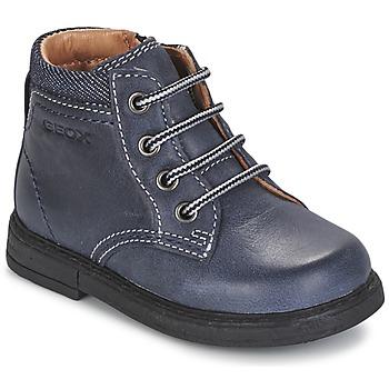鞋子 男孩 短筒靴 Geox 健乐士 B GLIMMER 蓝色