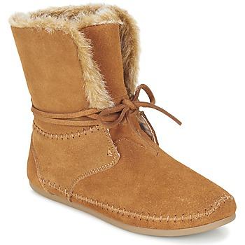 鞋子 女士 短筒靴 Toms ZAHARA 棕色