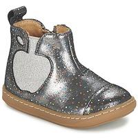 鞋子 女孩 短筒靴 SHOO POM by Pom d'Api BOUBA APPLE 银灰色