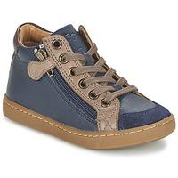 鞋子 儿童 高帮鞋 SHOO POM by Pom d'Api PLAY HIBI ZIP 海蓝色 / 灰褐色
