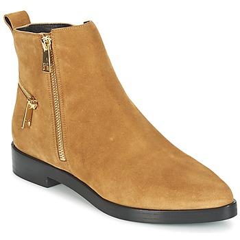 鞋子 女士 短筒靴 Kenzo TOTEM FLAT BOOTS 驼色