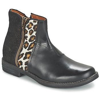 鞋子 女孩 短筒靴 Shwik by Pom d'Api TIJUANA WILD 黑色 / Leopard