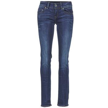 衣服 女士 直筒牛仔裤 G-Star Raw MIDGE SADDLE MID STRAIGHT 蓝色
