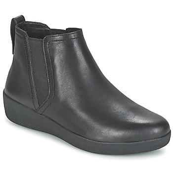 鞋子 女士 短筒靴 FitFlop SUPERCHELSEA BOOT 黑色