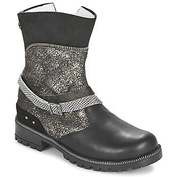鞋子 女孩 短筒靴 Ikks ROBERTA 黑色 / 灰色