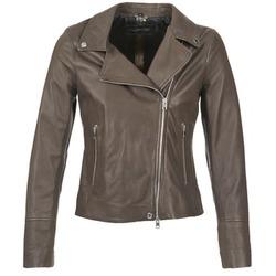 衣服 女士 皮夹克/ 人造皮革夹克 Oakwood 62049 灰色 / 米色