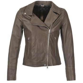 衣服 女士 皮夾克/ 人造皮革夾克 Oakwood 62049 灰色 / 米色