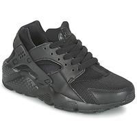 鞋子 儿童 球鞋基本款 Nike 耐克 HUARACHE RUN JUNIOR 黑色