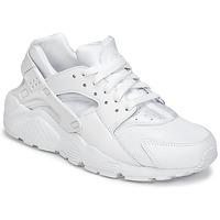 鞋子 男孩 球鞋基本款 Nike 耐克 HUARACHE RUN JUNIOR 白色
