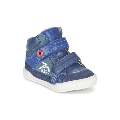鞋子 男孩 高帮鞋 Kickers JINJINU 蓝色