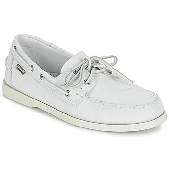 鞋子 男士 皮便鞋 Sebago 仕品高 DOCKSIDES 白色
