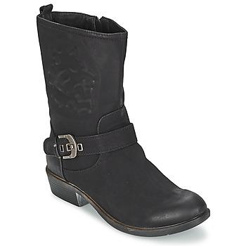 鞋子 女士 短筒靴 Spot on GANIA 黑色