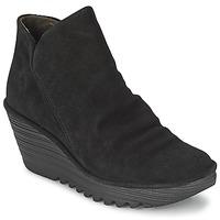 鞋子 女士 短筒靴 Fly London YIP 黑色