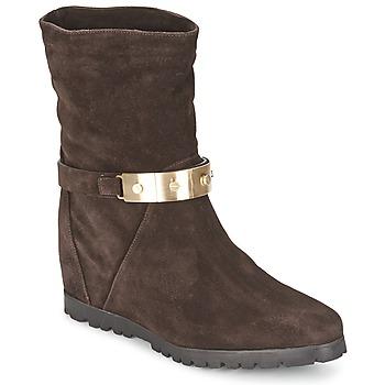 鞋子 女士 短靴 Alberto Gozzi VELOUR PEPE 棕色