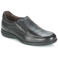 鞋子 男士 皮便鞋 Fluchos 富乐驰 LUCA 黑色
