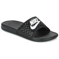 鞋子 女士 拖鞋 Nike 耐克 BENASSI JUST DO IT W 黑色 / 白色