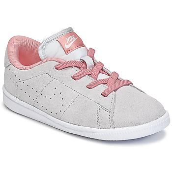 鞋子 女孩 球鞋基本款 Nike 耐克 TENNIS CLASSIC PREMIUM TODDLER 灰色 / 玫瑰色