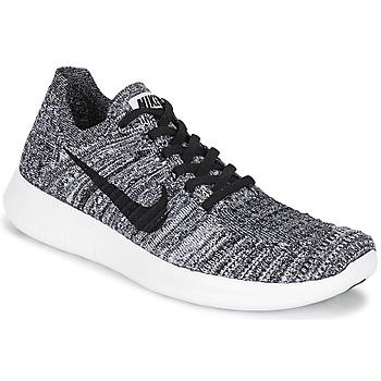鞋子 女士 跑鞋 Nike 耐克 FREE RUN FLYKNIT W 白色 / 黑色