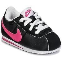 鞋子 女孩 球鞋基本款 耐克Nike CORTEZ NYLON TODDLER 黑色 / 玫瑰色