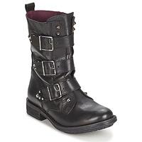 鞋子 女士 短筒靴 Ikks RANGER-COLLECTOR-BOUCLE 黑色