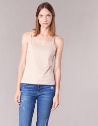 衣服 女士 无领短袖套衫/无袖T恤 B.O.T.D FAGALOTTE 米色