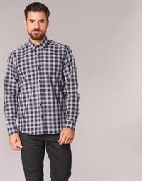 衣服 男士 长袖衬衫 Yurban FLENOTE 黑色 / 白色