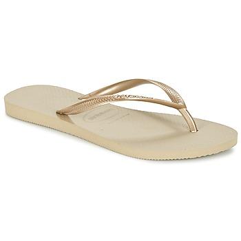 鞋子 女士 人字拖 Havaianas 哈瓦那 SLIM 金色