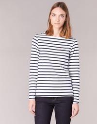 衣服 女士 长袖T恤 Betty London IFLIGEME 白色 / 蓝色