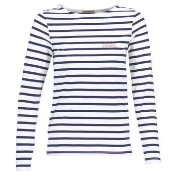 衣服 女士 长袖T恤 Betty London FLIGEME 白色 / 蓝色