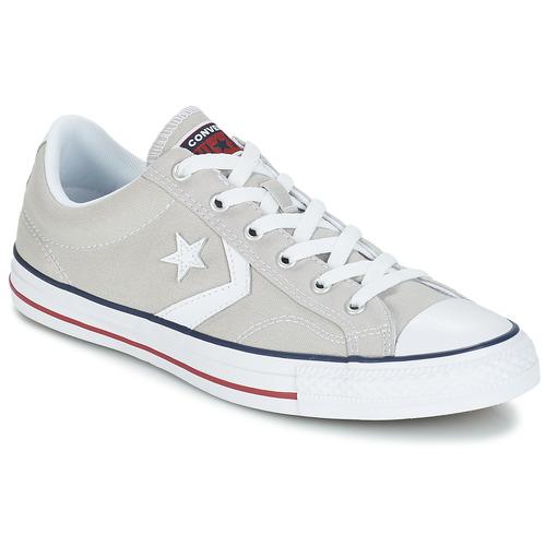 鞋子 球鞋基本款 Converse 匡威 STAR PLAYER CORE CANVAS OX 灰色 / 米色 / 白色