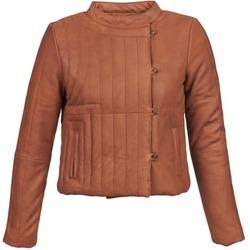 衣服 女士 皮夹克/ 人造皮革夹克 Antik Batik YOANN 棕色