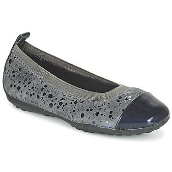 鞋子 女孩 平底鞋 Geox 健乐士 JR PIUMA BALLERINE 灰色 / Fonce